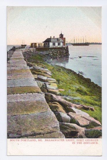 Breakwater Light South Portland ME ca 1910