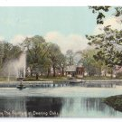 Portland ME The Fountain at Deering Park Leighton ca 1910