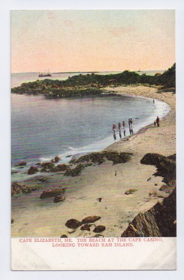 Cape Elizabeth ME Beach at Cape Casino Langdorf ca 1910