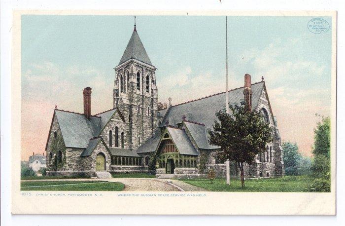 Christ Church Portsmouth NH Detroit Publishing ca 1910