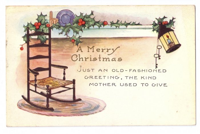 Christmas Arts and Crafts Vintage Whitney Postcard 1930
