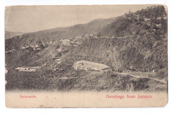 Newcastle Jamaica Vintage View Postcard