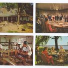 Williamsburg VA 4 postcards Sympathizers Cabinetmaking Tavern House of Burgesses