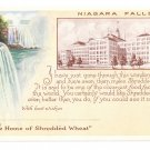 Niagara Falls Vintage Advertising Postcard Shredded Wheat