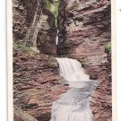 Watkins Glen NY Minnehaha Falls Tichnor Vintage Postcard