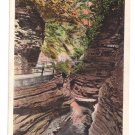 Watkins Glen NY Diamond Gorge Tichnor Vintage Postcard