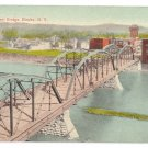 Lake Street Bridge Elmira NY Rubin Bros Vintage Postcard