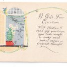 Easter Arts & Crafts Era Poem Postcard Lilies Litho