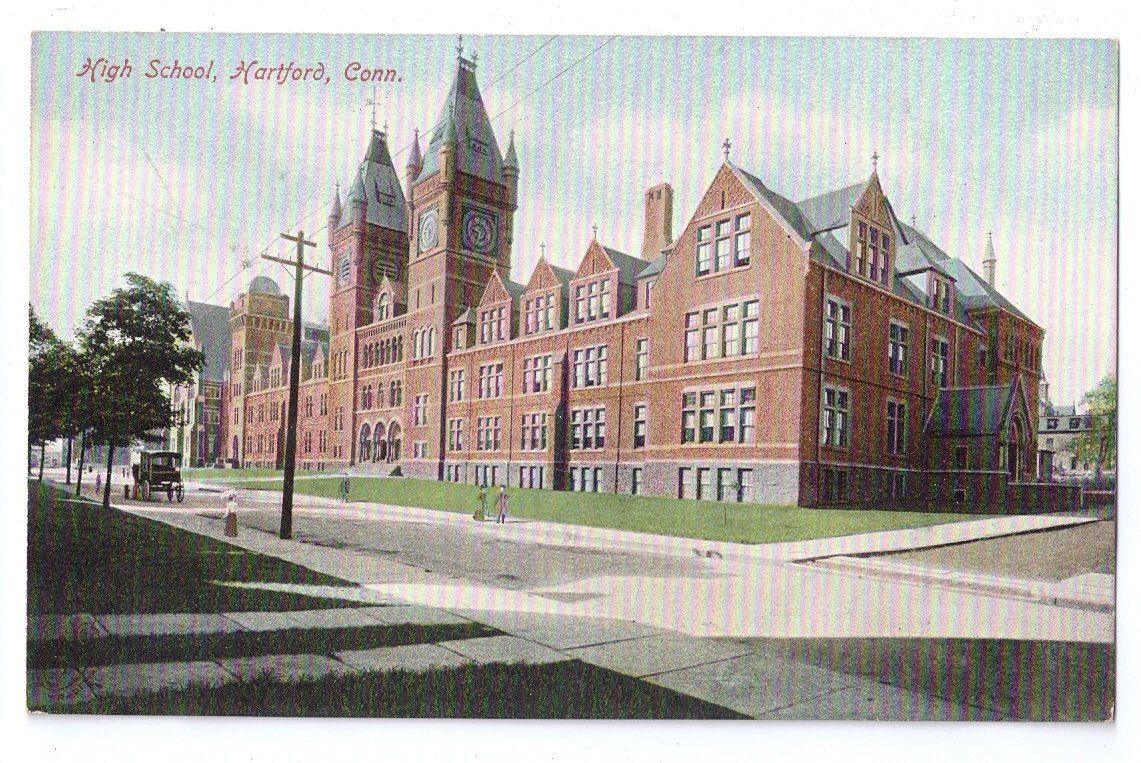 Hartford ct high school vintage post card und for Jewelry stores in hartford ct