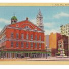 Faneuil Hall Boston MA 1949 Curteich Linen Postcard