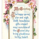 Easter Arts & Crafts Poem Embossed Postcard Pink Dogwood