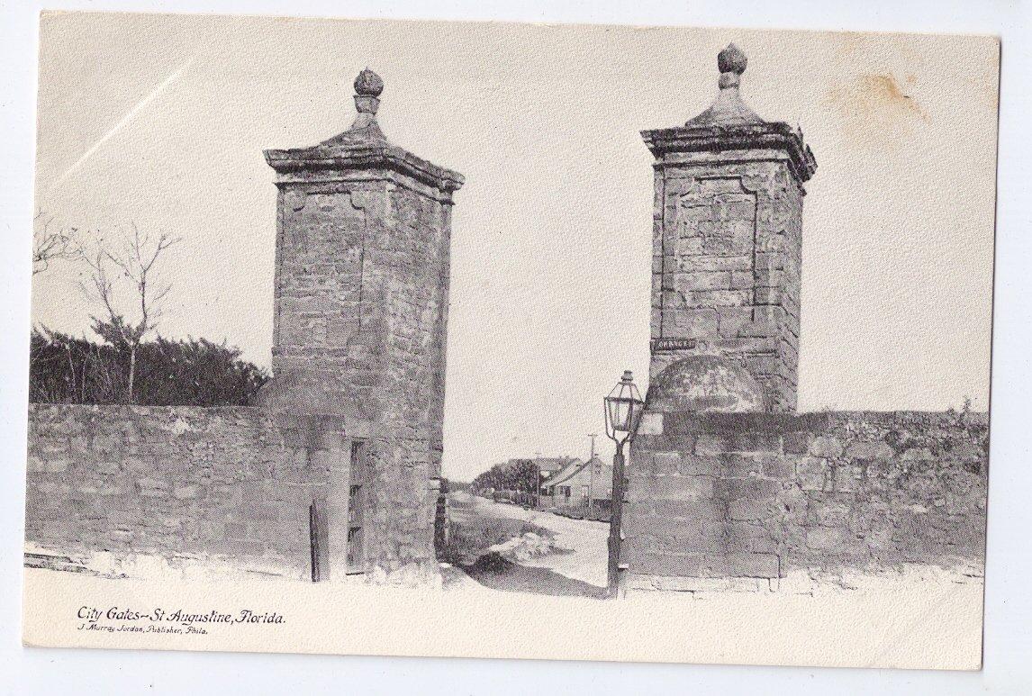 City Gates St. Augustine FL UDB Postcard ca 1904 Jordan