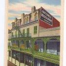 Antoines Restaurant New Orleans LA Linen Postcard