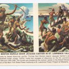 Art Postcard Benton Murals St Lawrence Power Project 4X6