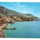 Italy Rapallo Postcard Panorama Ferry Harbor Tigullio Gulf 4X6