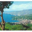 Italy Rapallo Panorama View Tigullio Gulf Postcard 4X6