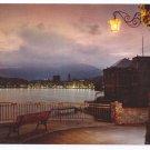 Italy Rapallo Postcard Evening Harbor 4X6
