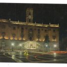 Italy Rome Capitole Compidoglio Capital at Night Postcard 4X6