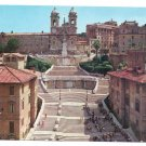 Italy Rome Spanish Square Steps Church Trinita dei Monti Postcard 4X6
