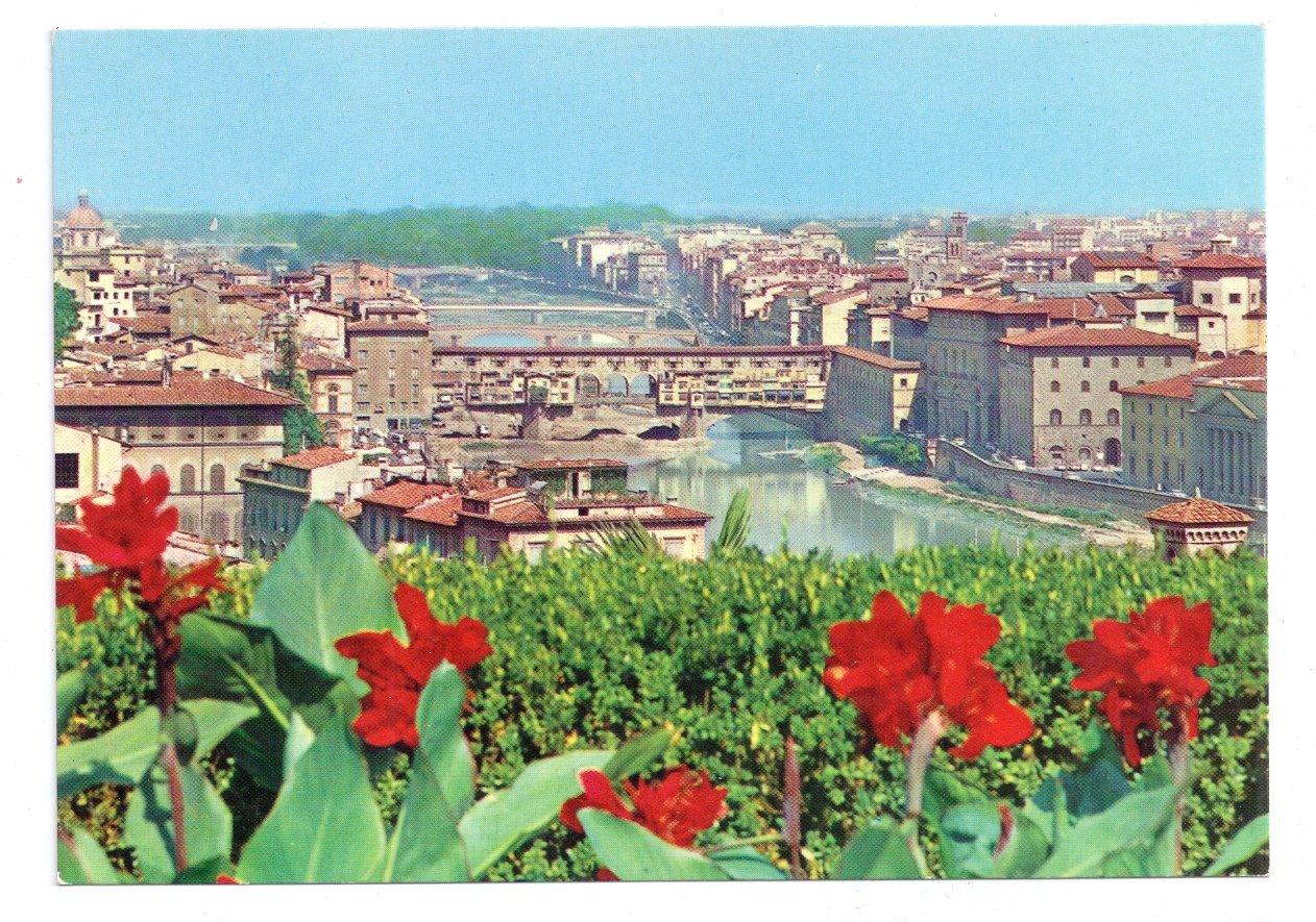 Italy Firenze Panorama Florence 4X6 Postcard