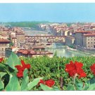 Italy Firenze Panorama Florence 4X6 Postcard