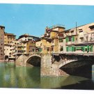 Italy Firenze Ponte Vecchio Florence Bridge 4X6 Postcard