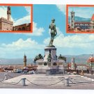 Italy Firenze Florence Multiview 4X6 Postcard
