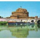 Italy Rome Bridge Ponte St Angelo Castle Postcard 4X6