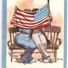Patriotic Postcard Bunnell Decoration Day Lounsbury 1908 Couple Kissing Story of the Flag