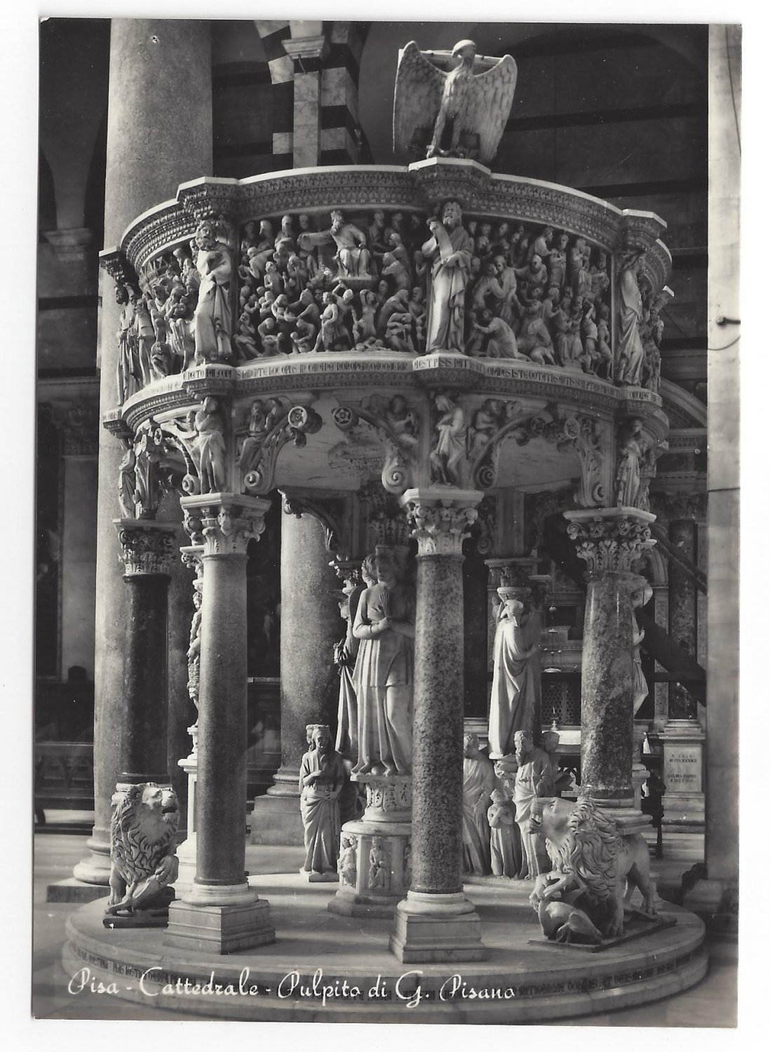 RP Italy Pisa Cathedral Pulpit G. Pisano Real Photo Art Post Card