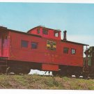Train Postcard Black River & Western Railroad Locomotive NO. 1 & Caboose