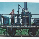 Train Railroad Postcard B&O Museum Tom Thumb Replica first Steam Locomotive RR