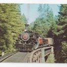 Train Railroad Postcard California Western 46 Baldwin 2-6-6-2 Steam Engine 1972