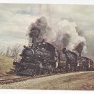 Train Railroad Postcard Canadian Pacific 136 CPR 3 Steam locomotives 1960 RR