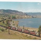Train Railroad Postcard Canadian Pacific 8621 4 GP9 Steam Locomotives RR 1965