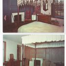 Valley Forge PA George Martha Washington Bedroom (2) Vintage Postcards