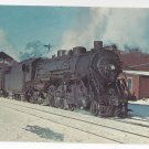 Train Rutland Vermont Railroad 1950 Steam Locomotive 81 Vintage Postcard