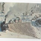 Train Denver Rio Grande Western RR 484 & 488 Steam Locomotives Vintage Postcard