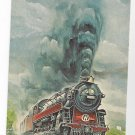 Train Mountaineer New York Ontario & Western Painting RR Postcard