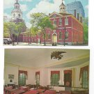 Philadelphia PA Congress Hall Senate Chamber Independence Mall (2) Postcards