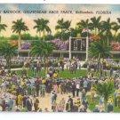 Gulfstream Race Track Paddock Hallandale FL Linen 1949