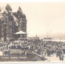 Quebec Canada Chateau Frontenac Dufferin Terrace Valentine's Real Photo Post Card RPPC