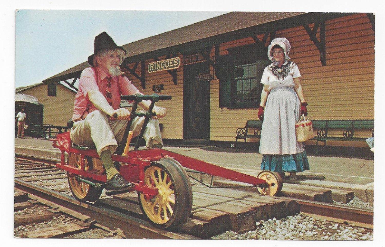 Railroad Velocipede Black River & Western RR Flemington NJ Train Postcard