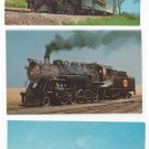 Strasburg Railroad Postcards Lot of 3 PA RR Trains Depot No. 90