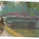New Hope Bucks County PA Mule Drawn Barge Delaware Canal 1962 Postcard