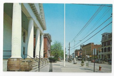 Flemington NJ Postcard Main Street Hunterdon County 1968 Court House