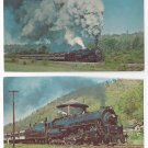 Train Railroad Postcards Reading 2102 Northern Steam Locomotive (2) C&O RR