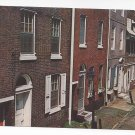 Philadelphia PA Postcard Elfreth's Alley Facades Mike Roberts