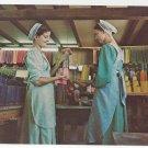 Leola Pa Amish Girls Old Candle Barn Vintage Postcard