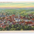 Pottsville PA Postcard Birds Eye Aerial View Curteich Linen